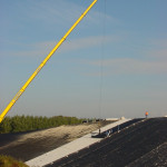 combinatie afdichting op AVI_bodemas Bentonietmatten-HDPE folie 2mm project Elhorst-Vloedbelt